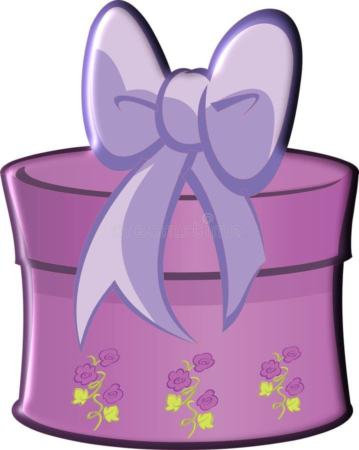 与弓的礼物紫色 库存照片