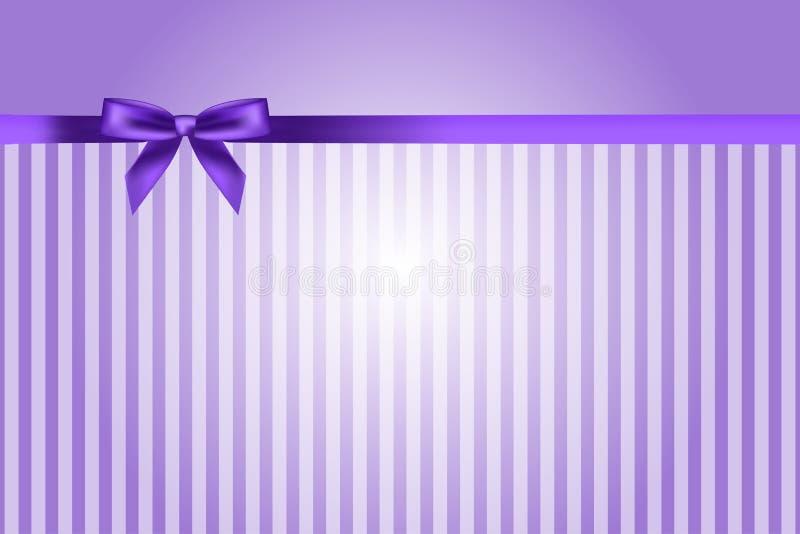 与弓的紫色背景 库存例证