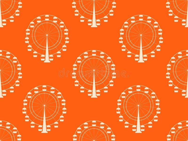 与弗累斯大转轮的无缝的样式 向量 皇族释放例证