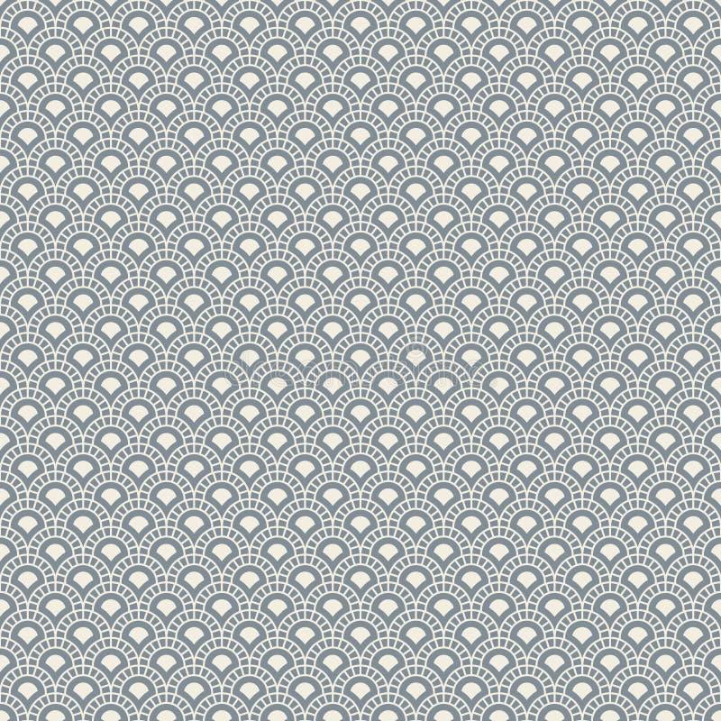 与弧的抽象无缝的背景 皇族释放例证