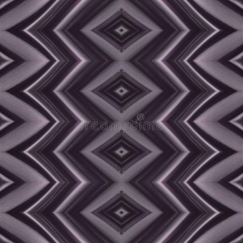 与弯曲的线和几何样式的抽象设计紫色颜色表面、背景和纹理上 向量例证