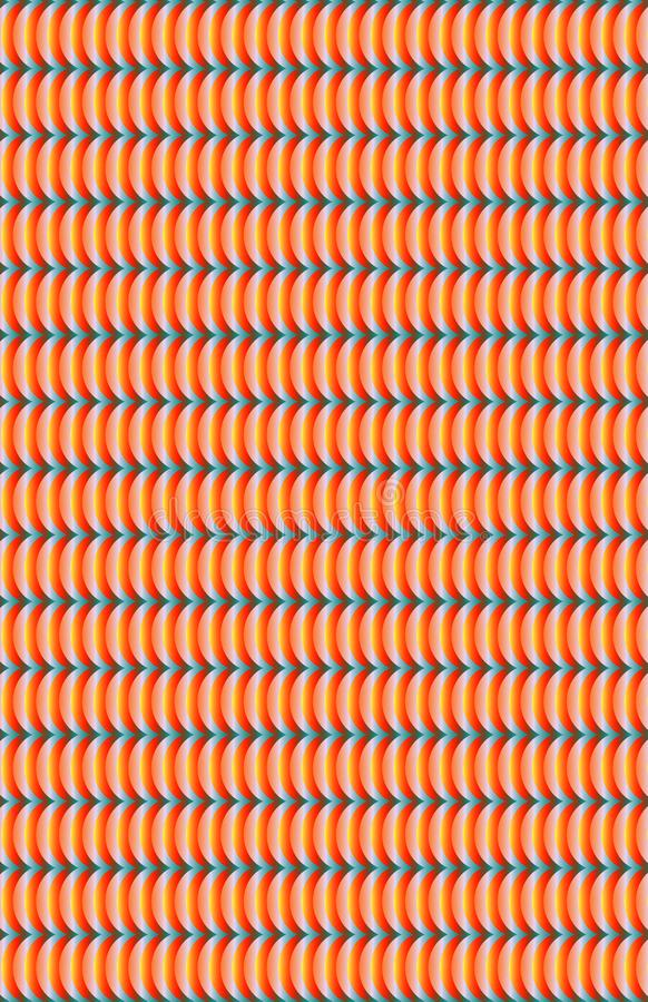 与弯曲的线的明亮的橙色和白色样式 库存例证