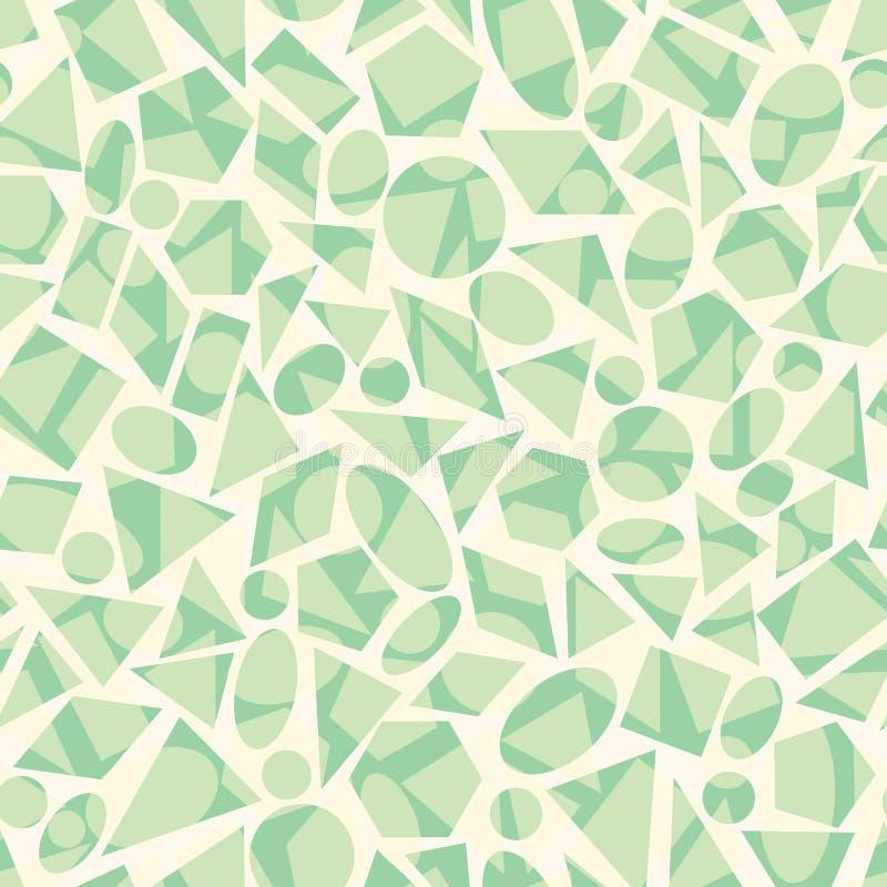与形状的传染媒介无缝的几何样式 皇族释放例证