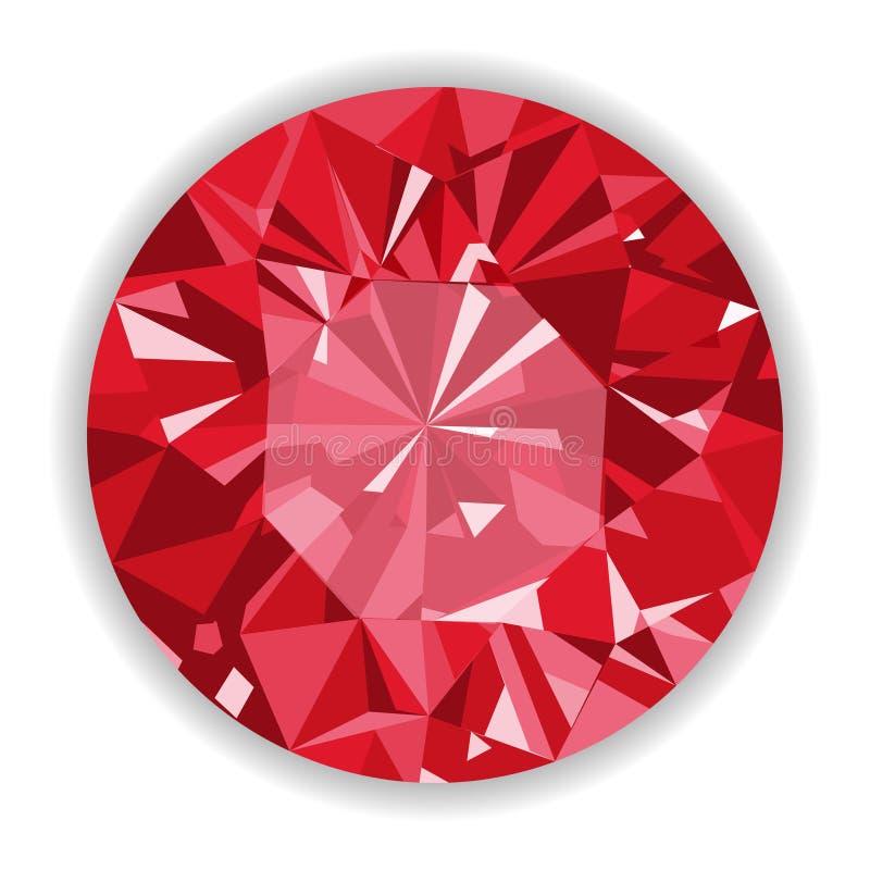 与形状的红宝石或Rodolite宝石。 库存例证