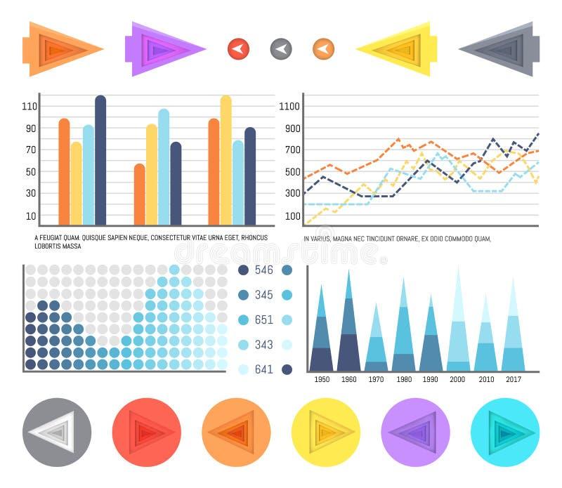 与形象化的数据和时间安排的流程图 皇族释放例证