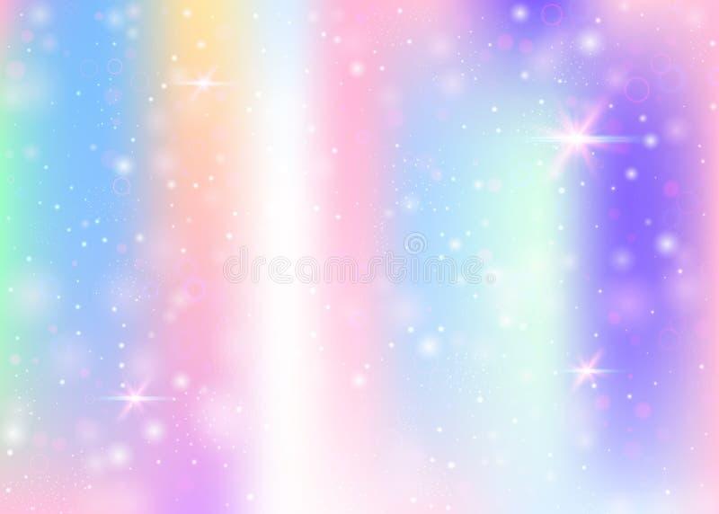 与彩虹滤网的独角兽背景 库存例证