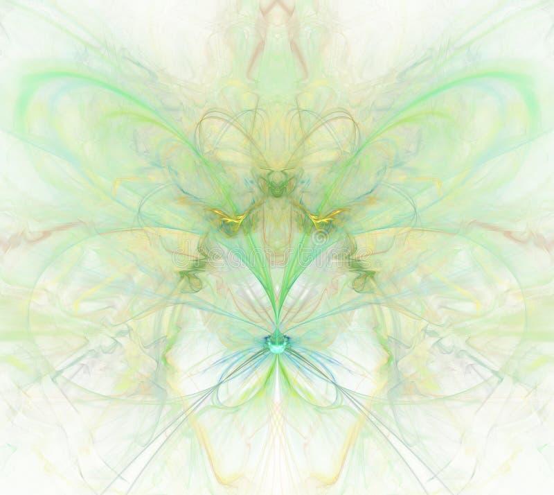 与彩虹的白色抽象背景-绿色,绿松石, yello 向量例证