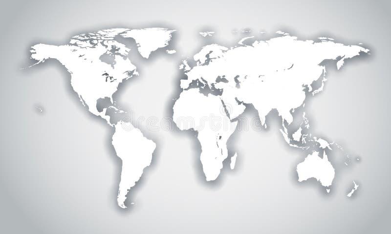 与影子的空白世界形状 向量例证