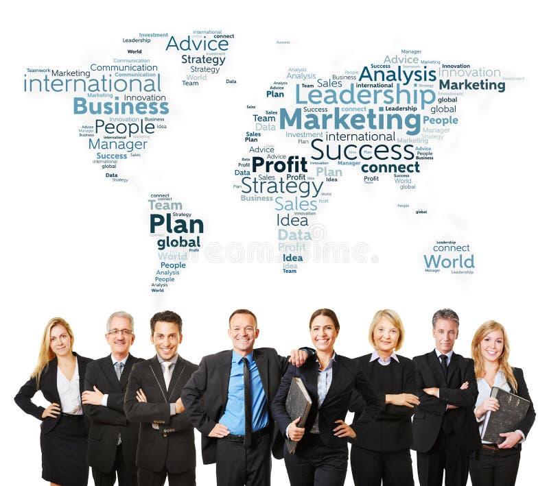 与律师的国际企业队 免版税库存照片