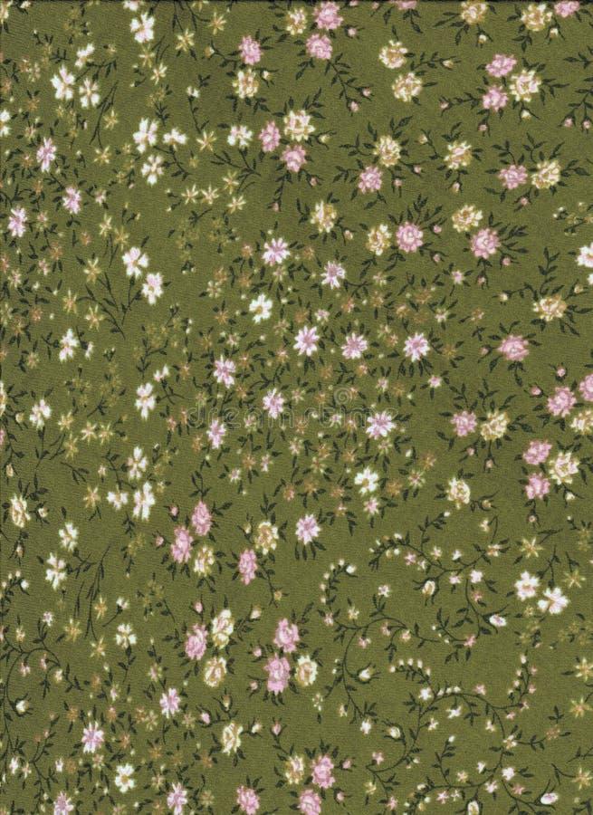 与微小的花的绿色抽象样式 免版税图库摄影
