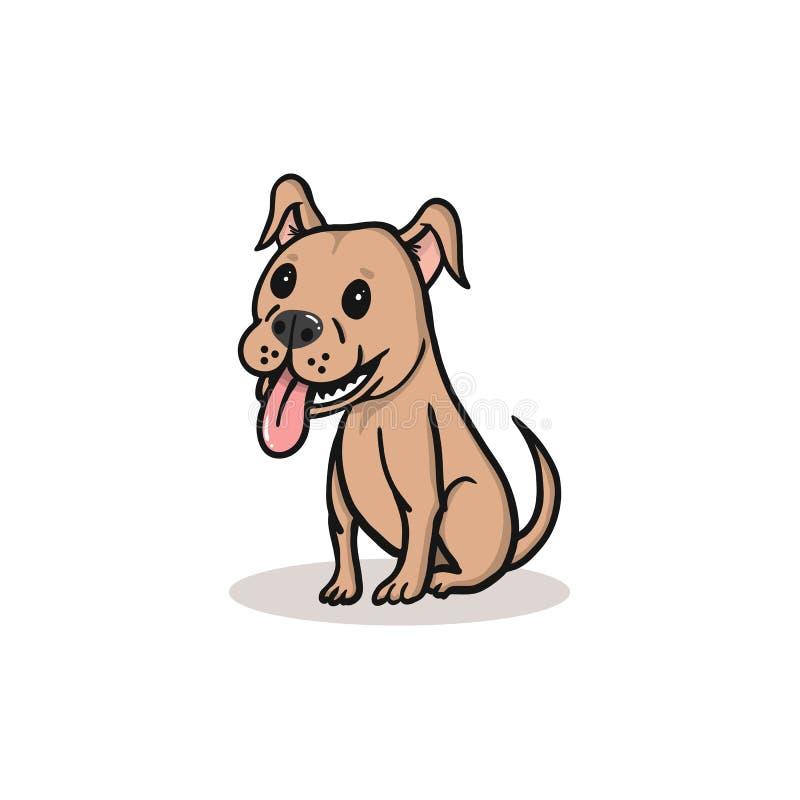 与微笑的一部逗人喜爱的狗动画片 免版税库存图片
