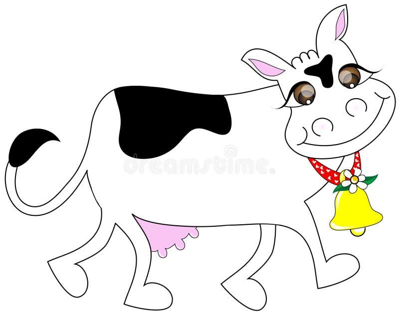 与微笑的母牛 免版税库存照片