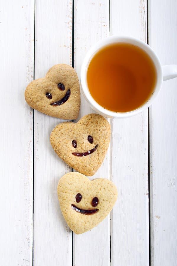 与微笑的饼干 库存图片