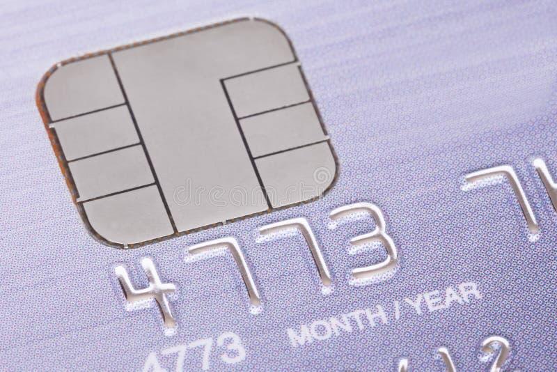 与微芯片的信用卡 库存照片