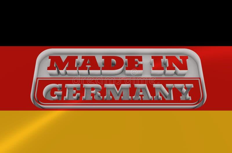 与德国制造文本的被刻记的邮票 向量例证