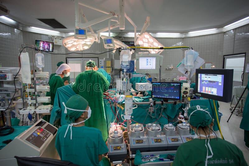 与心肺旁路的心脏病手术 免版税库存照片
