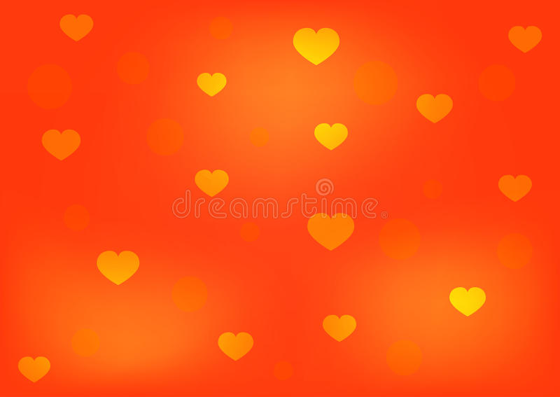 与心脏和圈子的浪漫发光的背景 向量例证
