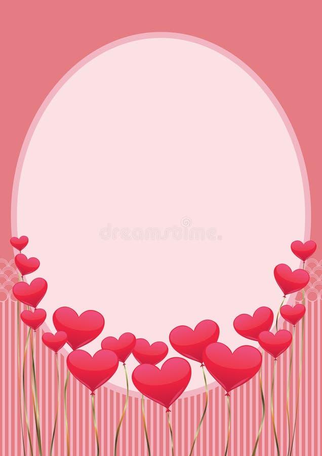 与心脏垂直的桃红色的礼物 免版税库存图片