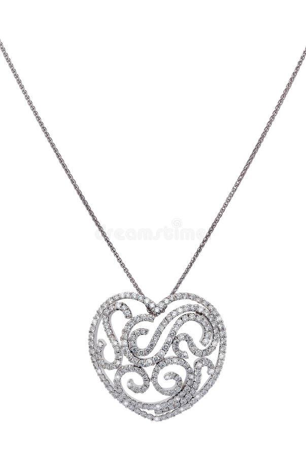 Download 与心脏形状垂饰的银色项链 库存照片. 图片 包括有 浪漫, 形状, 重点, 背包, 项链, 详细资料, 珠宝 - 30331810