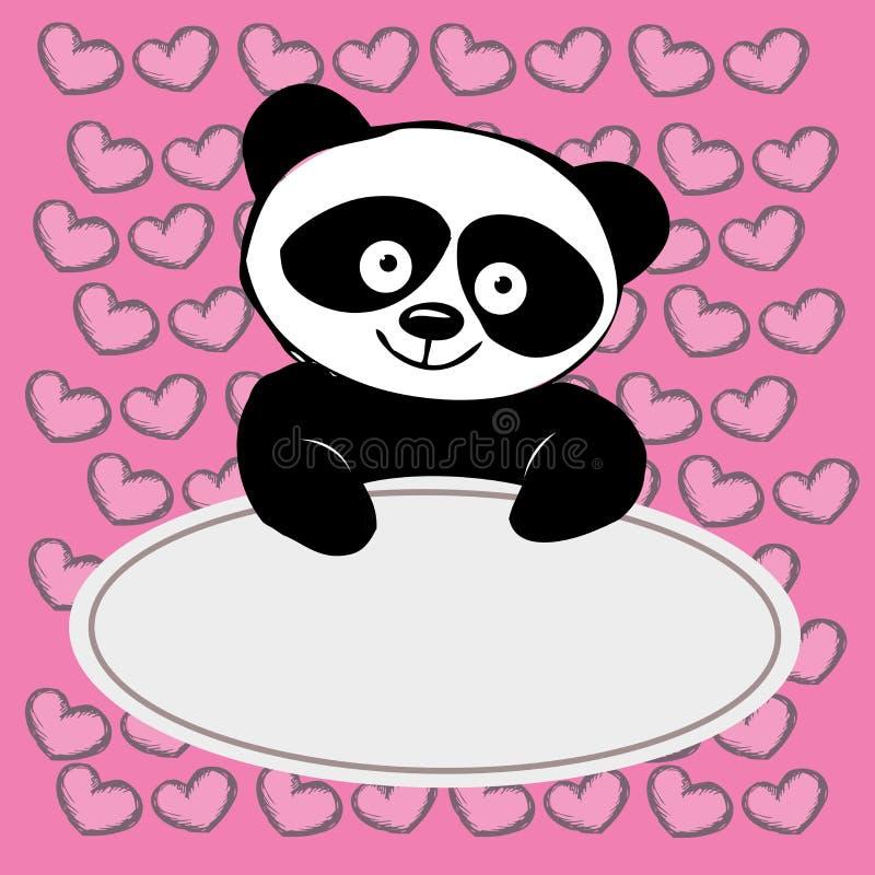 Download 与心脏的小的逗人喜爱的熊猫, 向量例证. 插画 包括有 设计, 装饰, 到达, 纯稚, 乐趣, 动画片, 问候 - 62529371