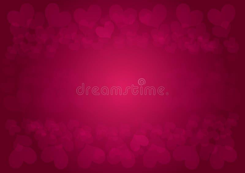 与心脏的情人节背景 向量例证
