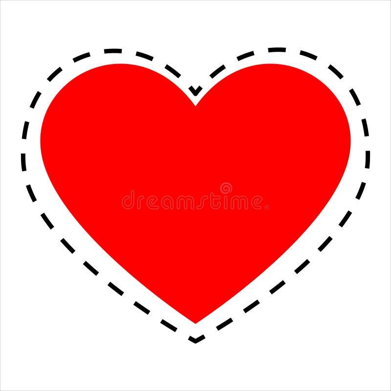 与心脏的无缝的几何样式 向量例证