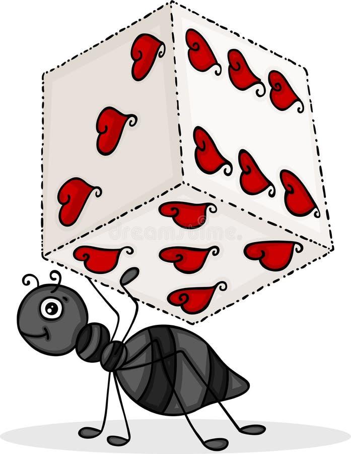 与心脏的蚂蚁运载的模子 皇族释放例证