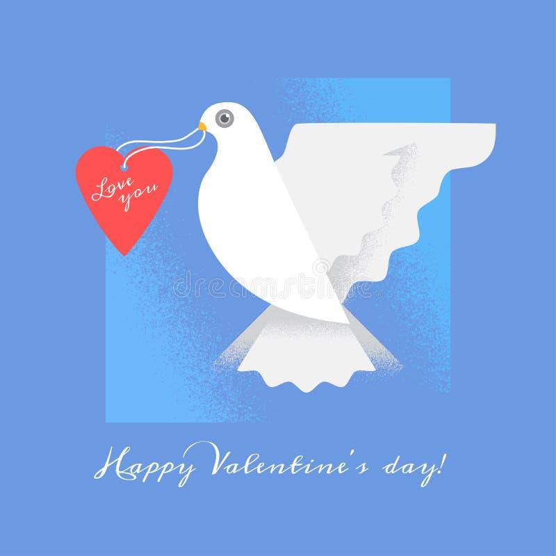 与心脏的鸠 婚礼与鸠的邀请卡片 拟订爱s二华伦泰的日愉快的重点 库存照片