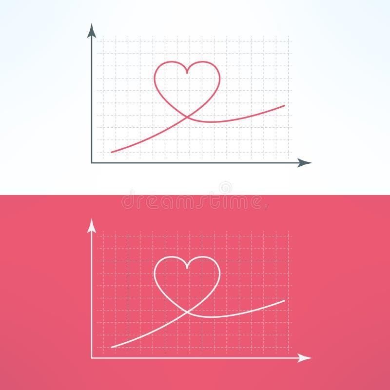 与心脏象的向量图形图 爱和 皇族释放例证
