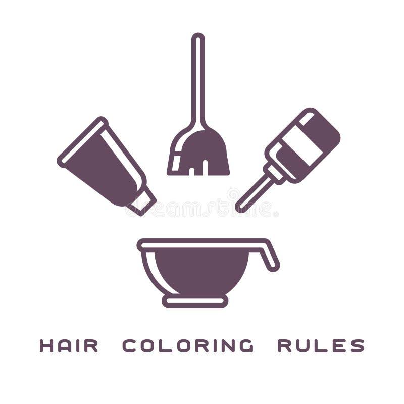 与必要的属性的横幅头发染色的 库存图片