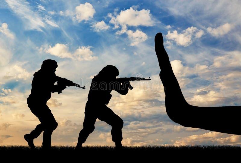 与恐怖主义概念的全球性战斗 图库摄影