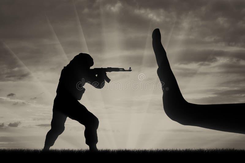 与恐怖主义概念的战斗 免版税库存照片