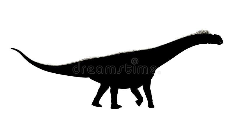 恐龙的剪影 皇族释放例证