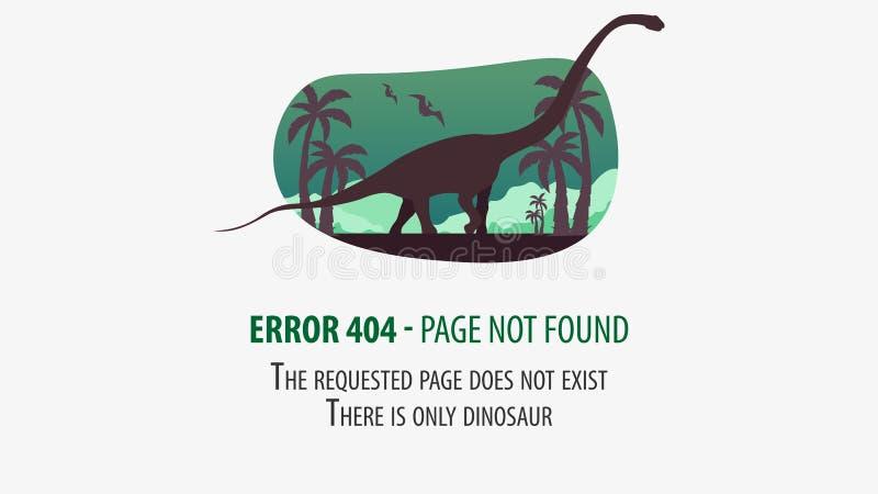 404与恐龙的错误 不是被找到的页 网站的UI UX模板 也corel凹道例证向量 库存例证