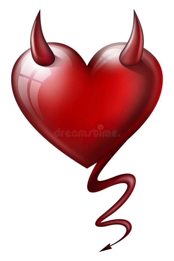 与恶魔属性的心脏 皇族释放例证