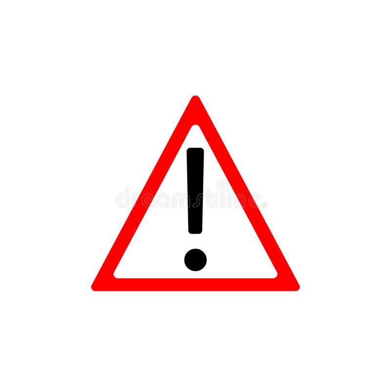 与惊叹号标志的注意标志 也corel凹道例证向量 警告象 三角 皇族释放例证
