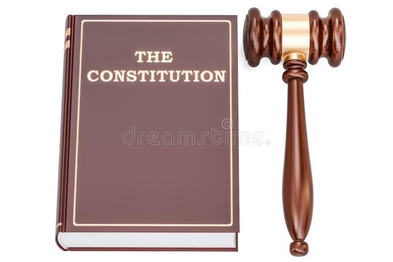 与惊堂木, 3D的宪法书翻译 向量例证