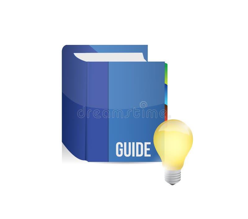 与想法电灯泡的蓝色指南 库存例证