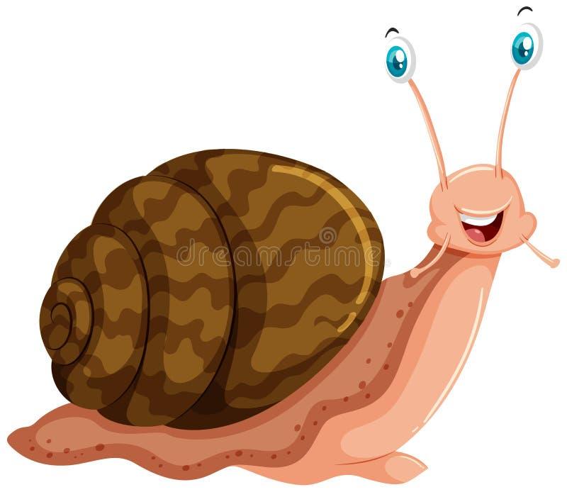 与愉快的面孔的蜗牛 库存例证