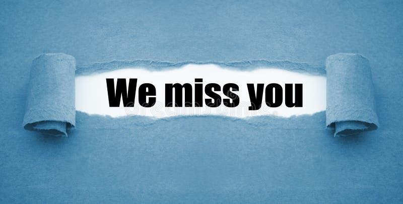 与我们的文书工作想念您 库存照片