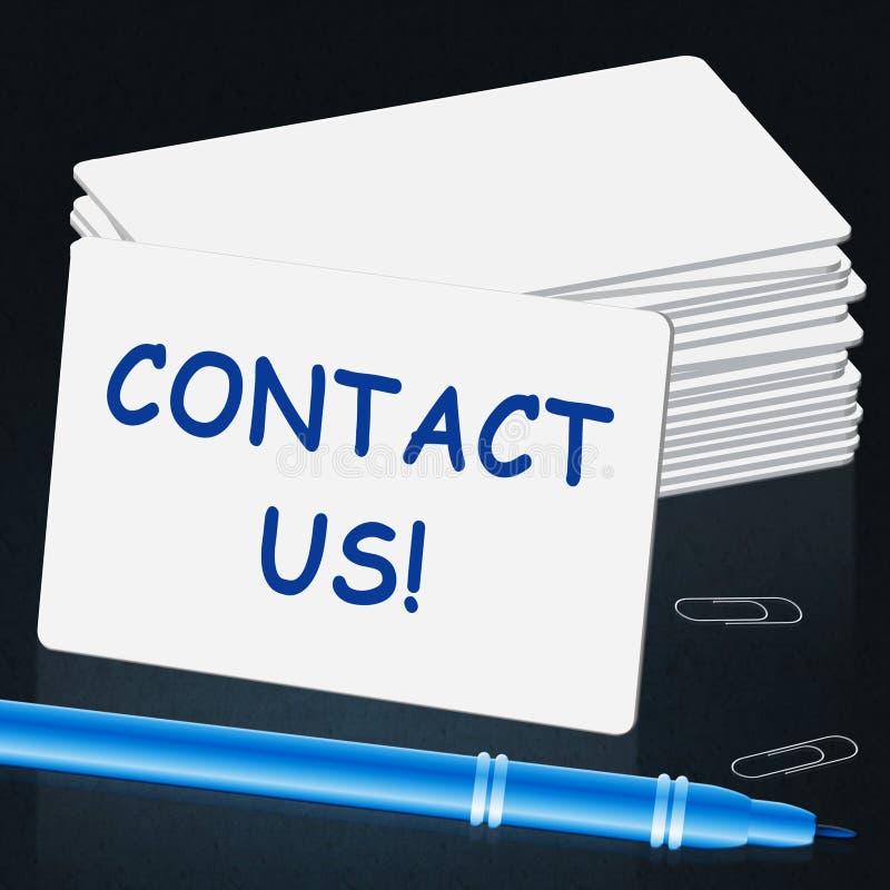 与我们联系卡片手段顾客服务3d例证 向量例证