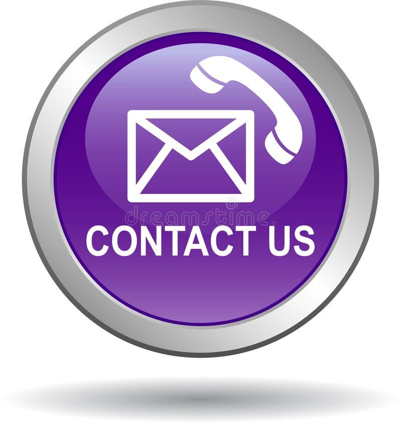 与我们联系紫罗兰色信件分送的象 库存例证