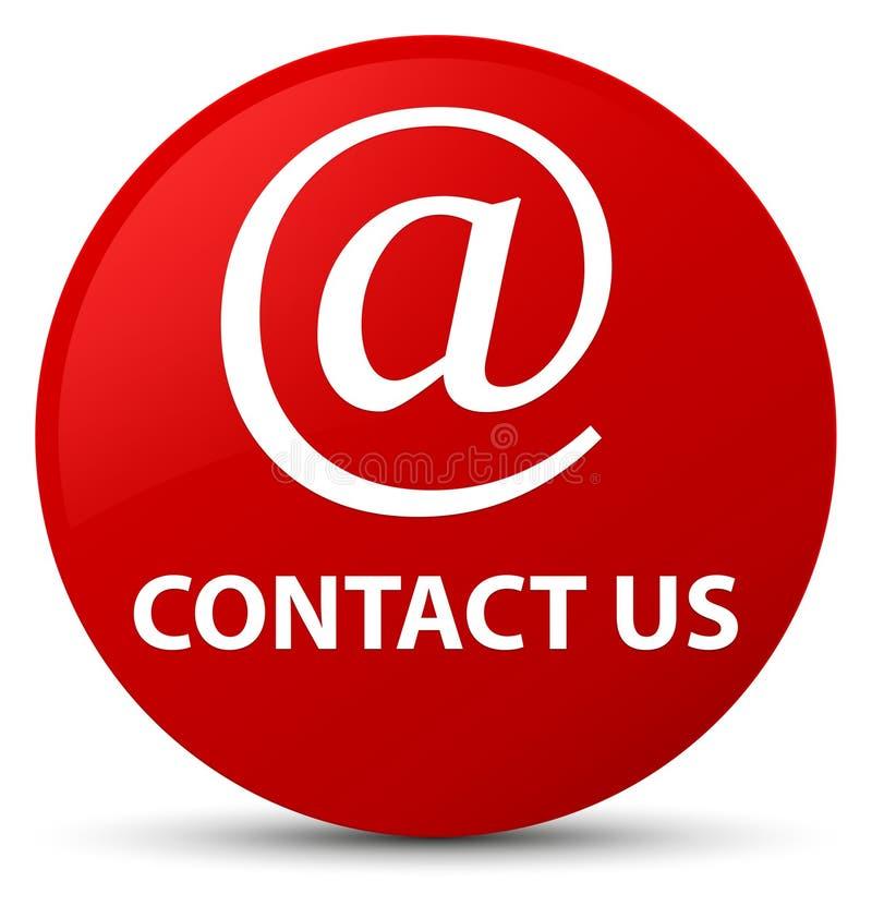 与我们联系(电子邮件象)红色圆的按钮 皇族释放例证