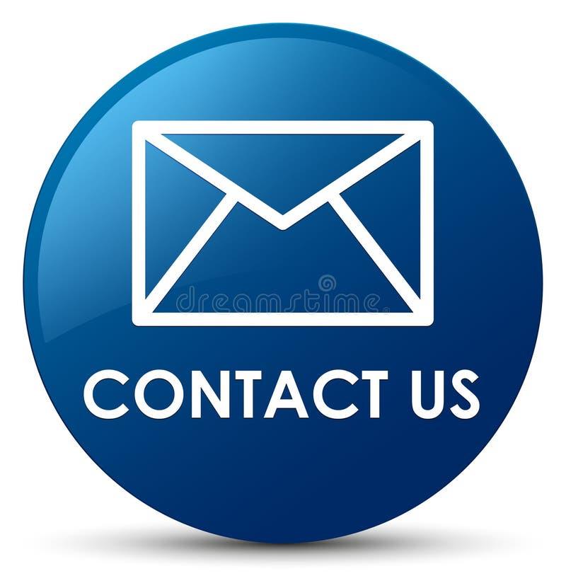 与我们联系(电子邮件象)蓝色圆的按钮 库存例证
