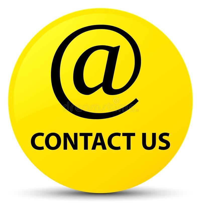 与我们联系(电子邮件象)黄色圆的按钮 皇族释放例证