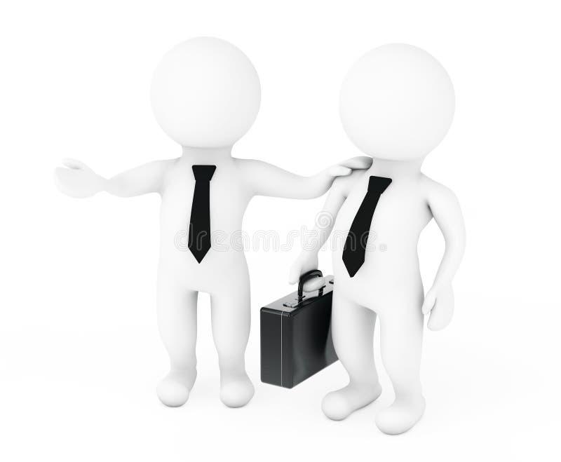 与我们的工作概念 3d经理雇用技巧 3d翻译 库存例证