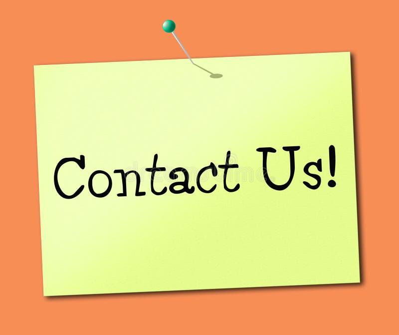 与我们联系现在表明电话和聊天 库存例证
