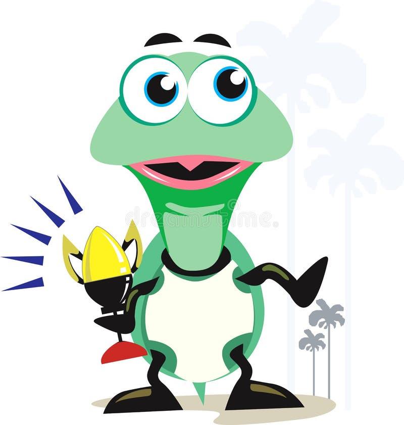 与战利品的草龟 向量例证