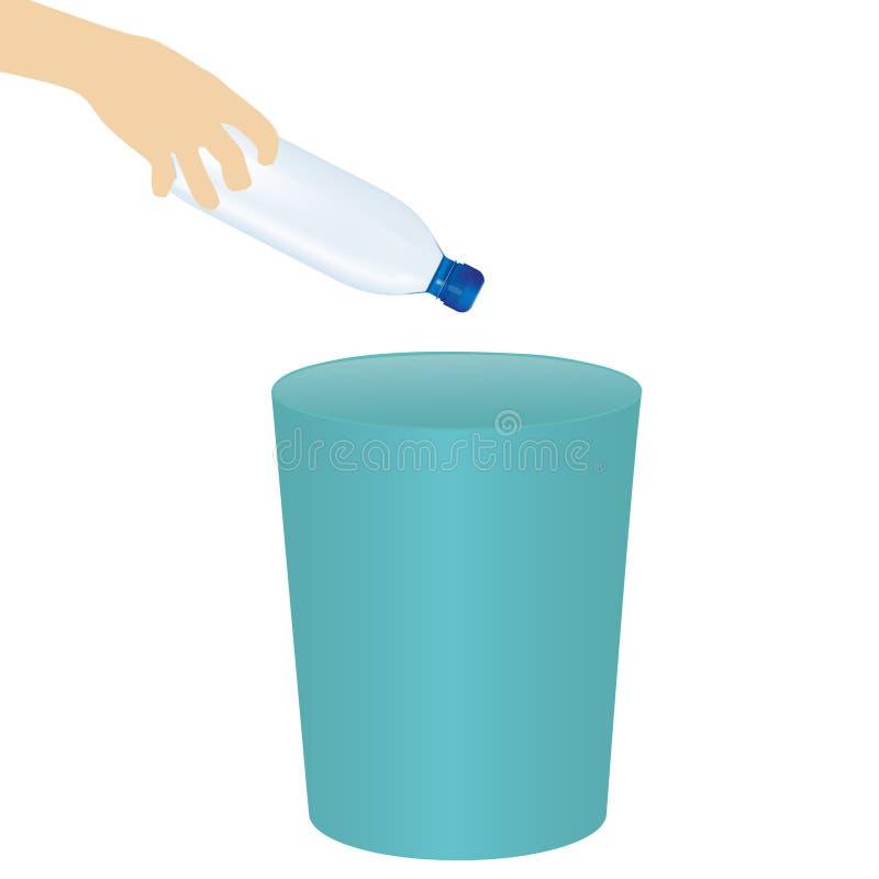 与手投掷的尘土的传染媒介例证到垃圾里 向量例证