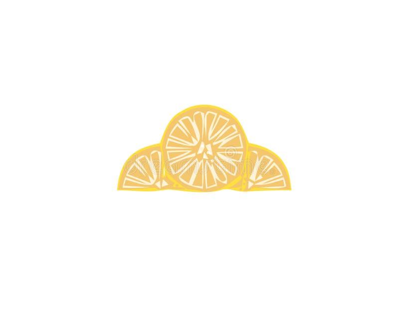 与手拉的柠檬切片的传染媒介无缝的样式 美好的设计元素,为印刷品和样式完善 库存例证